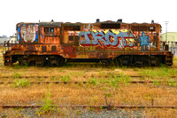 IROT (Graffitied Locomotive, Eureka CA)