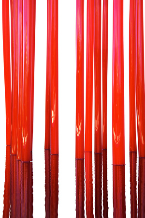 Red Reeds (Vertical)