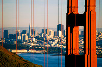 Golden Gate Brigde (North Tower) And San Francisco